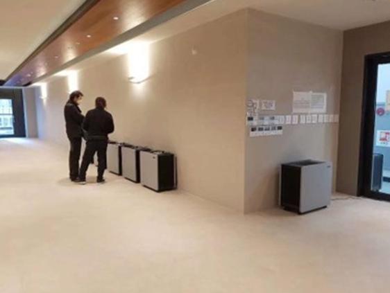 韓國首爾政府新辦公大樓使用LUFTRUM品牌空氣清淨機,此為建築內圖。LUFTR...