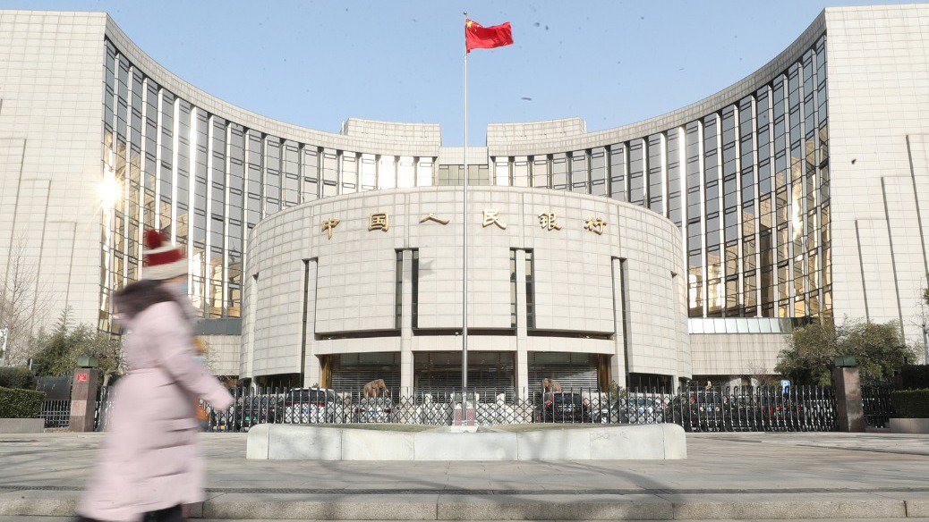 中國人民銀行。中新社