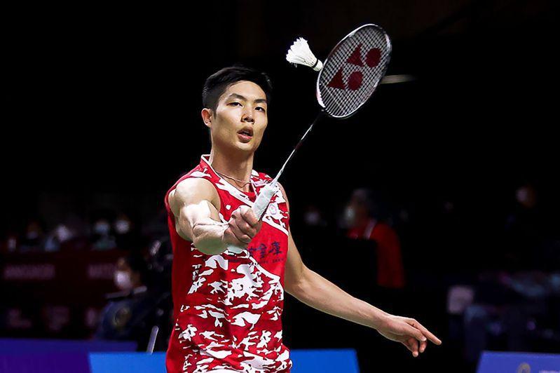 BWF超級系列賽總決賽,中華羽球隊「一哥」周天成收下勝利。 法新社