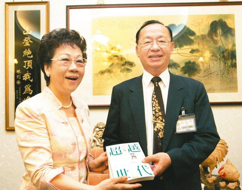 副總統呂秀蓮大哥呂傳勝(右)。