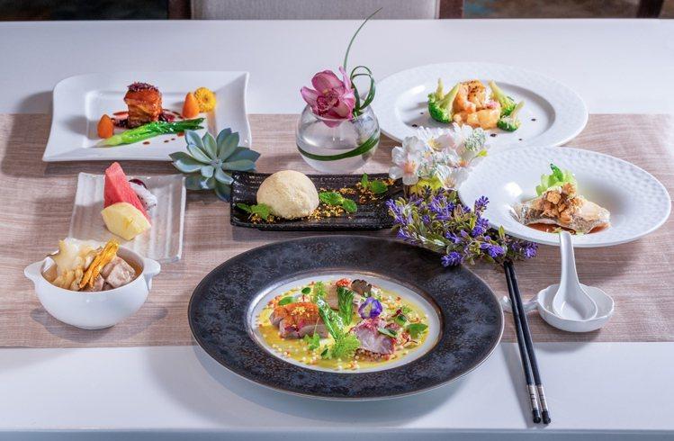 入住期間可享用主廚特製的「花漾饗宴套餐」,市價達2,760元+10%。圖/六福旅...