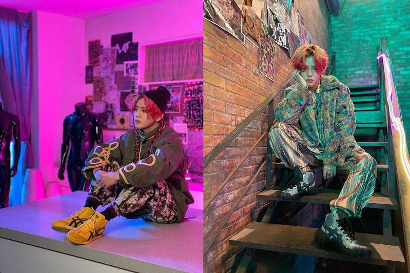 韓國男團A.C.E在MV中穿上Onitsuka Tiger的潮流鞋款,引發「穿同款」效益。圖/摘自instagram
