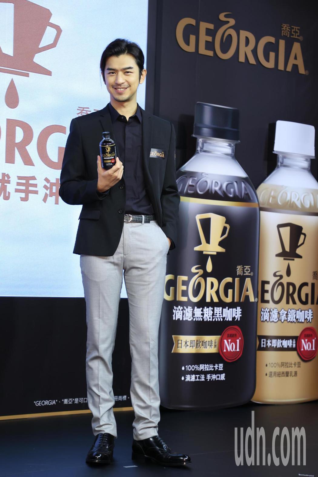 陳柏霖下午出席「GEORGIA喬亞咖啡」新品發表會,並坦言其實很想挑戰咖啡師的角...