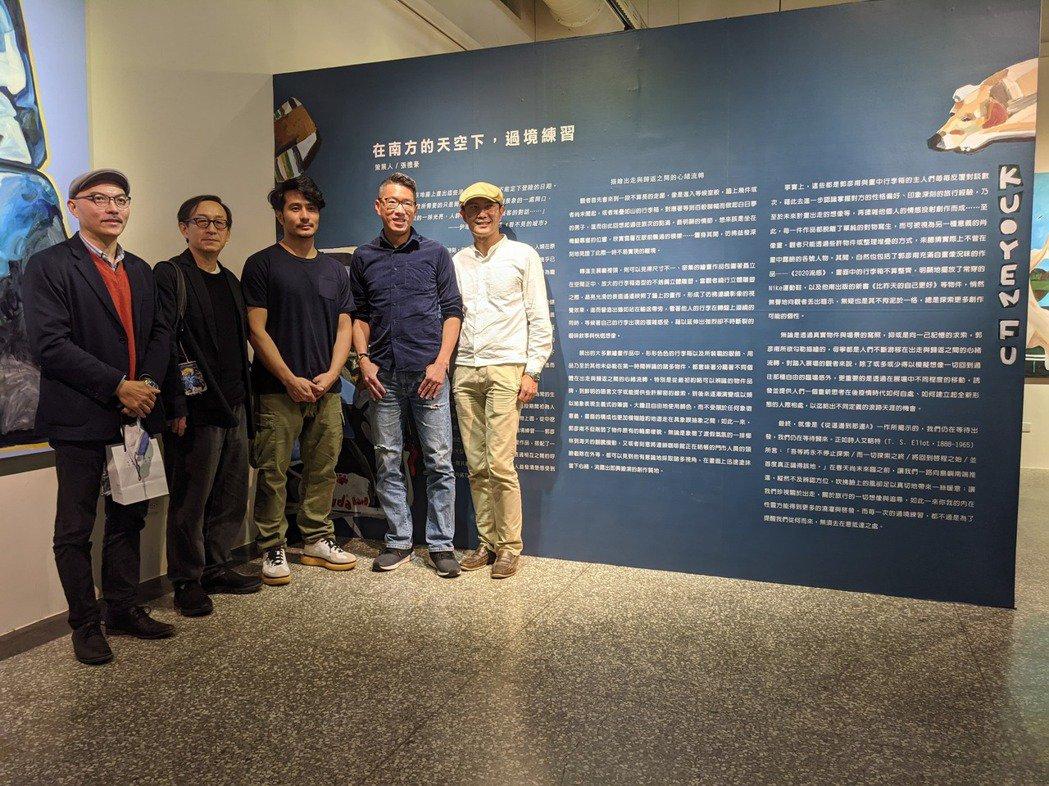 全職畫家郭彥甫屏東首展「過境練習」今天於屏東美術館展出。記者陳弘逸/攝影