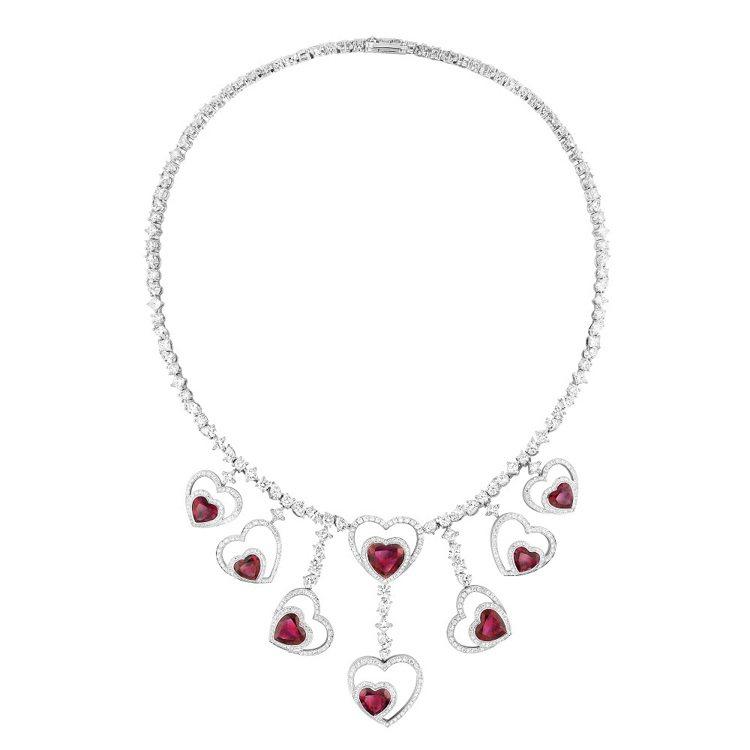 FRED Pretty Woman系列Audacious紅碧璽和鑽石多重配戴高級...
