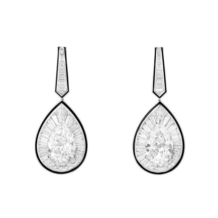 Boucheron LISERÉ DIAMANTS鑽石織緞耳環,價格店洽。圖 /...