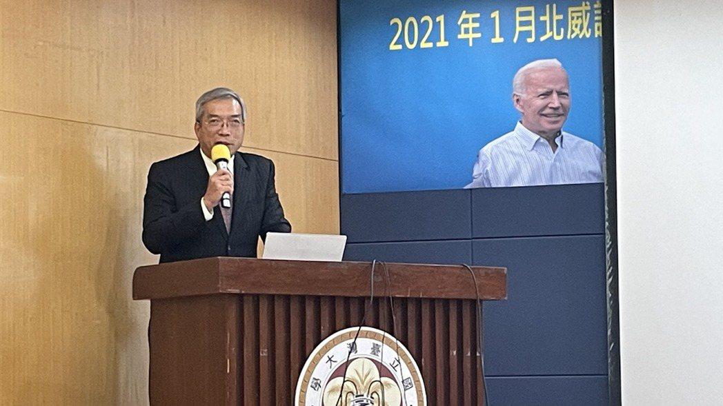 財信傳媒董事長謝金河。記者陳芝瑄/攝影