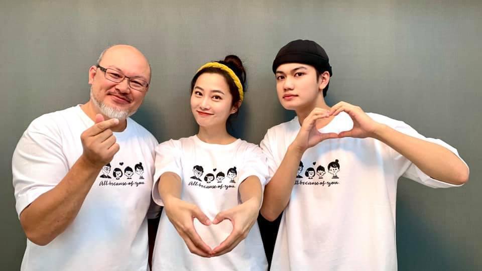 左起劉亮佐、趙小僑、劉子銓合影。圖/摘自臉書