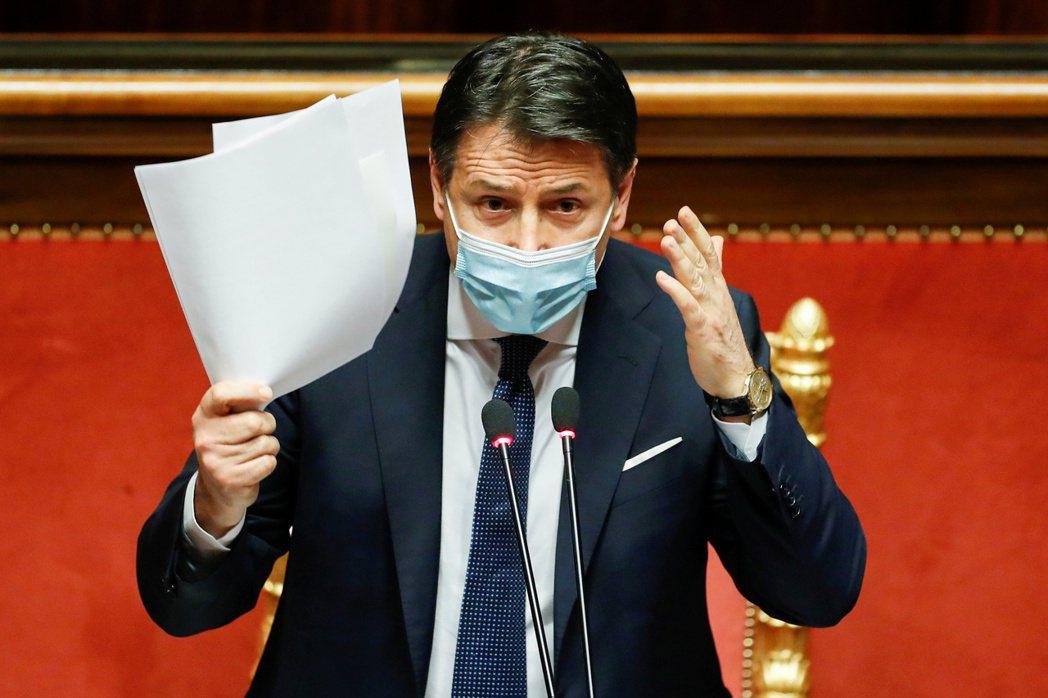 義大利總理孔蒂。路透