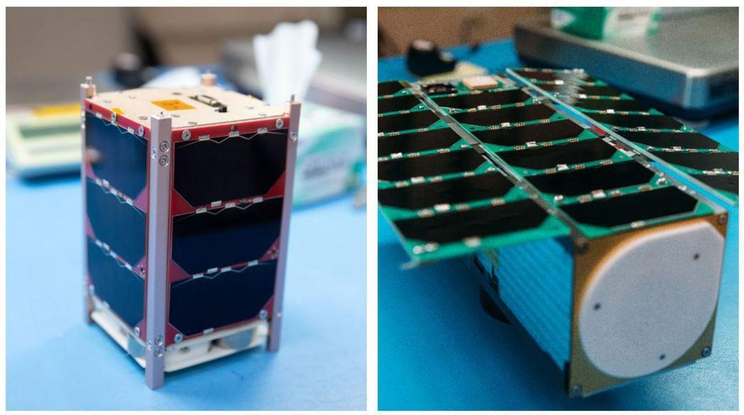 我國立方衛星玉山(左)與飛鼠(右)24日晚間11時發射升空。圖/國家太空中心提供