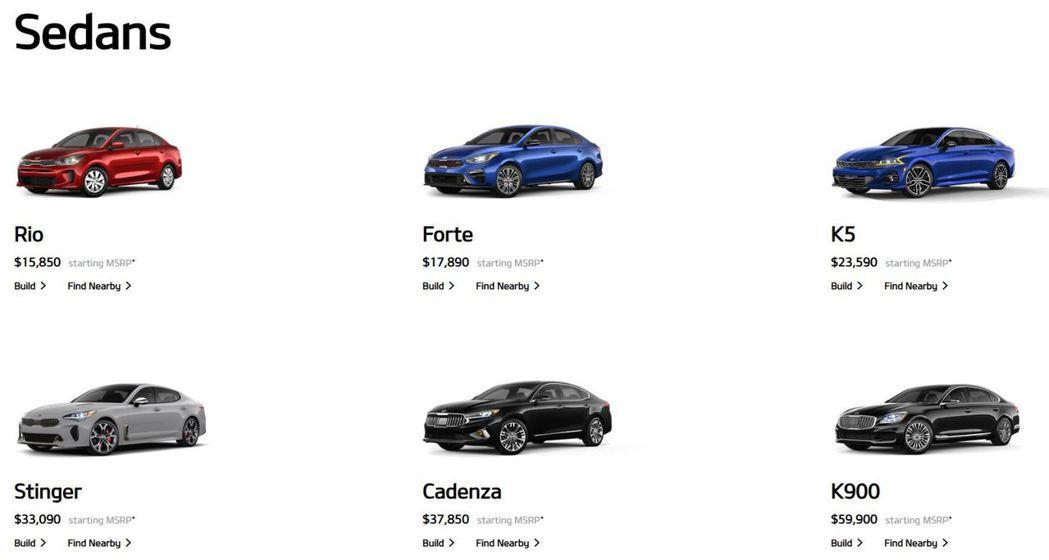 待2020年式完售後,Kia就會將Cadenza與K900自官網下架。 圖/截自...