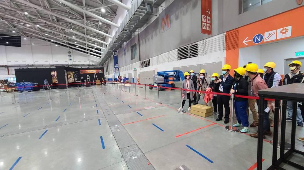 2021台北電玩展現場防疫排隊區