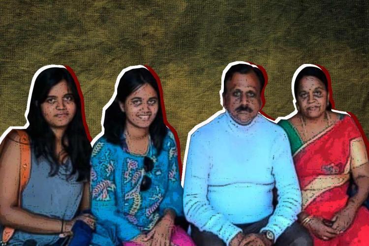 夫妻宣稱收到「神聖訊息」指示得殺死2女兒。照片為全家福。圖/取自thenewsminute