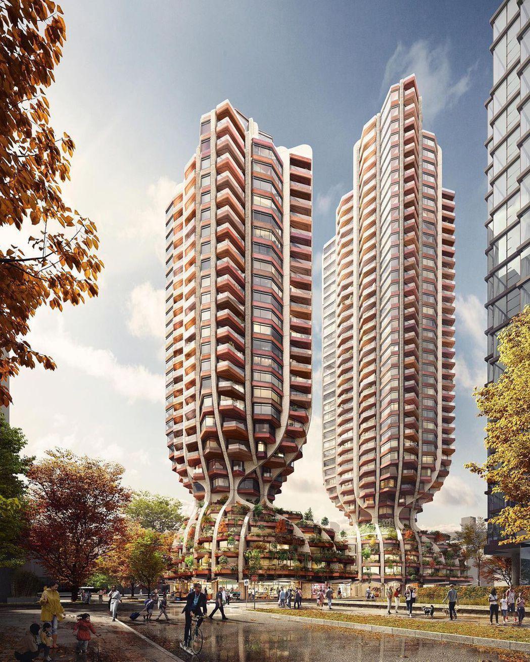 Heatherwick Studio將於溫哥華,推出高樓層建案。圖/Heathe...