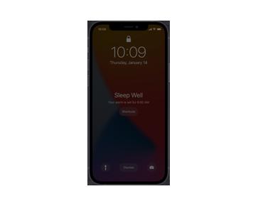 iPhone 跟著你一起準備休眠的狀態。