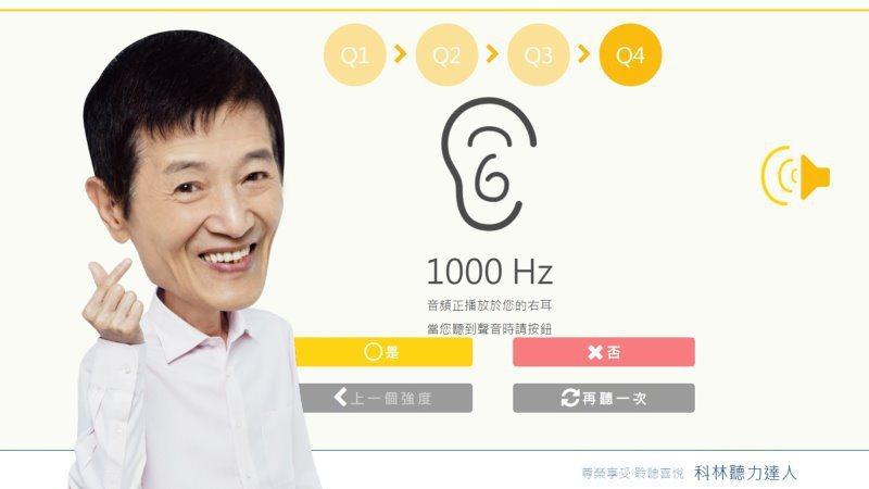 科林助聽器線上聽篩一指完成_HamiPoint輕鬆賺。 科林助聽器/提供。
