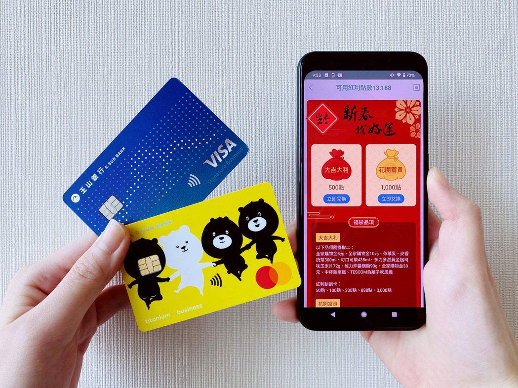 玉山信用卡推出「玉山Wallet新春福袋」活動,於2/17至2/20以紅利點數5...