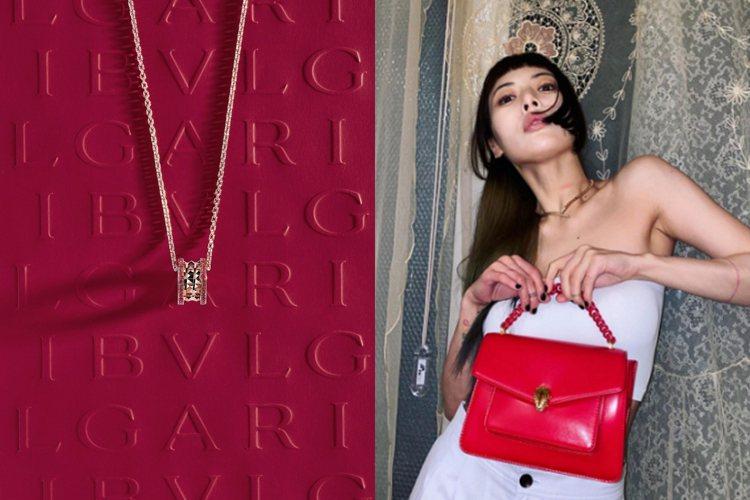 寶格麗推出農曆新年限定珠寶,韓星金泫雅更想先秀出紅色包款展現新年新氣象。圖/寶格...
