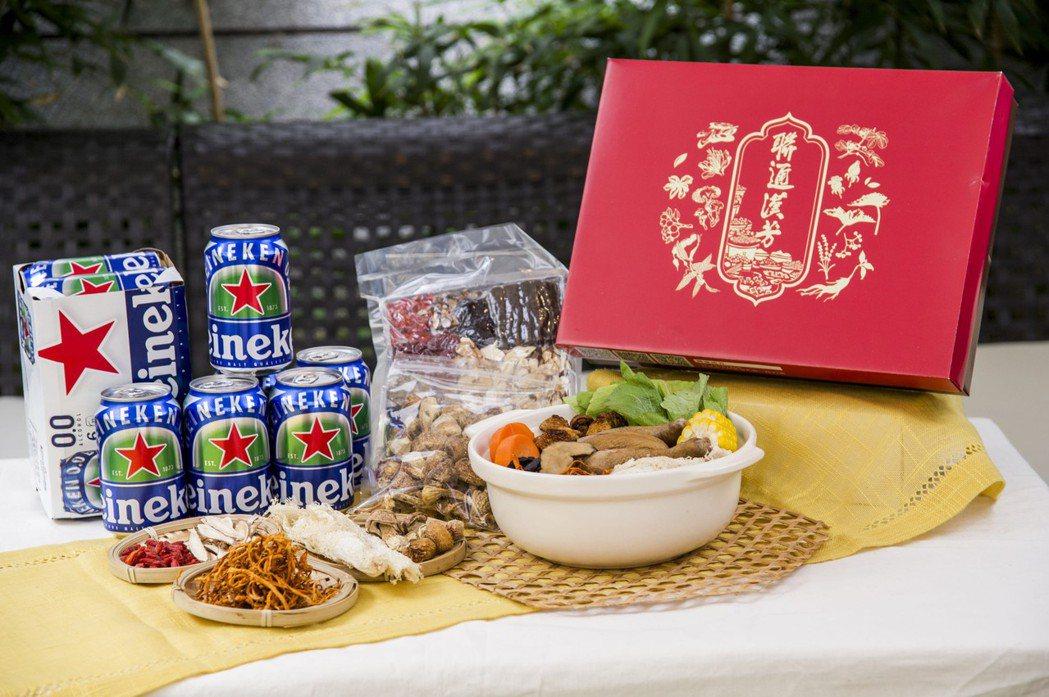 採辦年菜有海尼根零酒精可搭配。業者提供