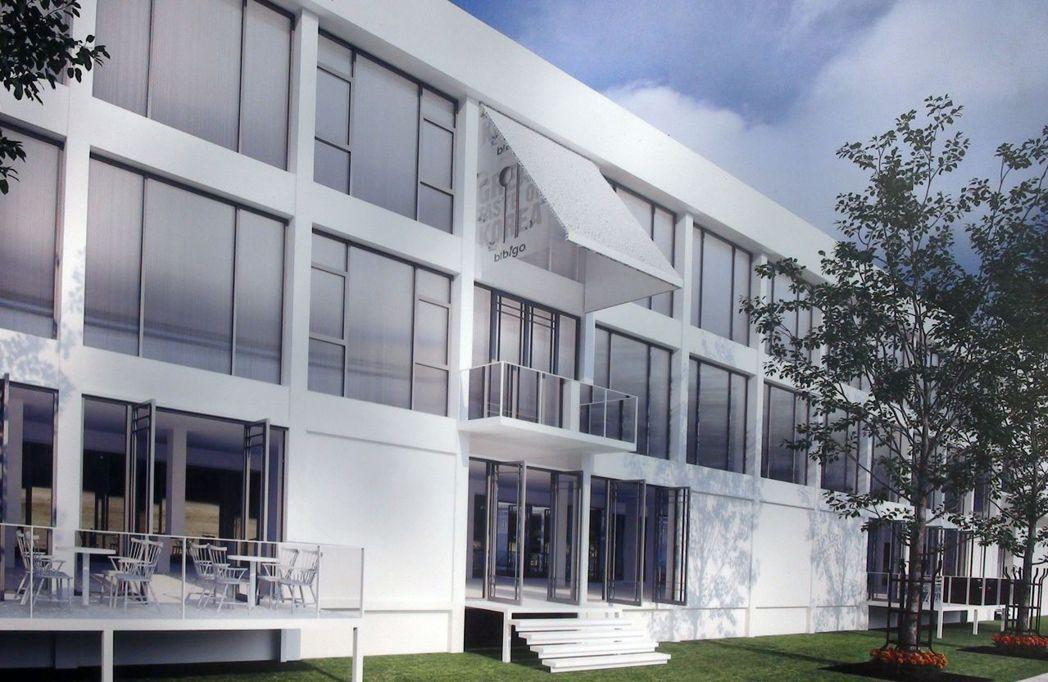 位在高雄駁二特區的候工室,未來將改造成高CP值的時尚旅店(模擬圖)。記者王昭月/...