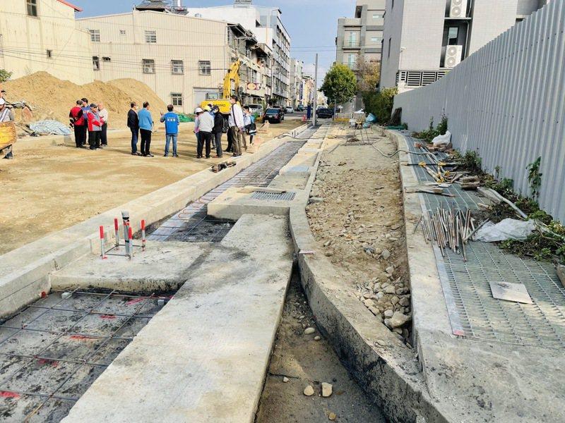 台中市潭子區民生街銜接福貴路將於農曆年前完工通車。圖/楊瓊瓔提供