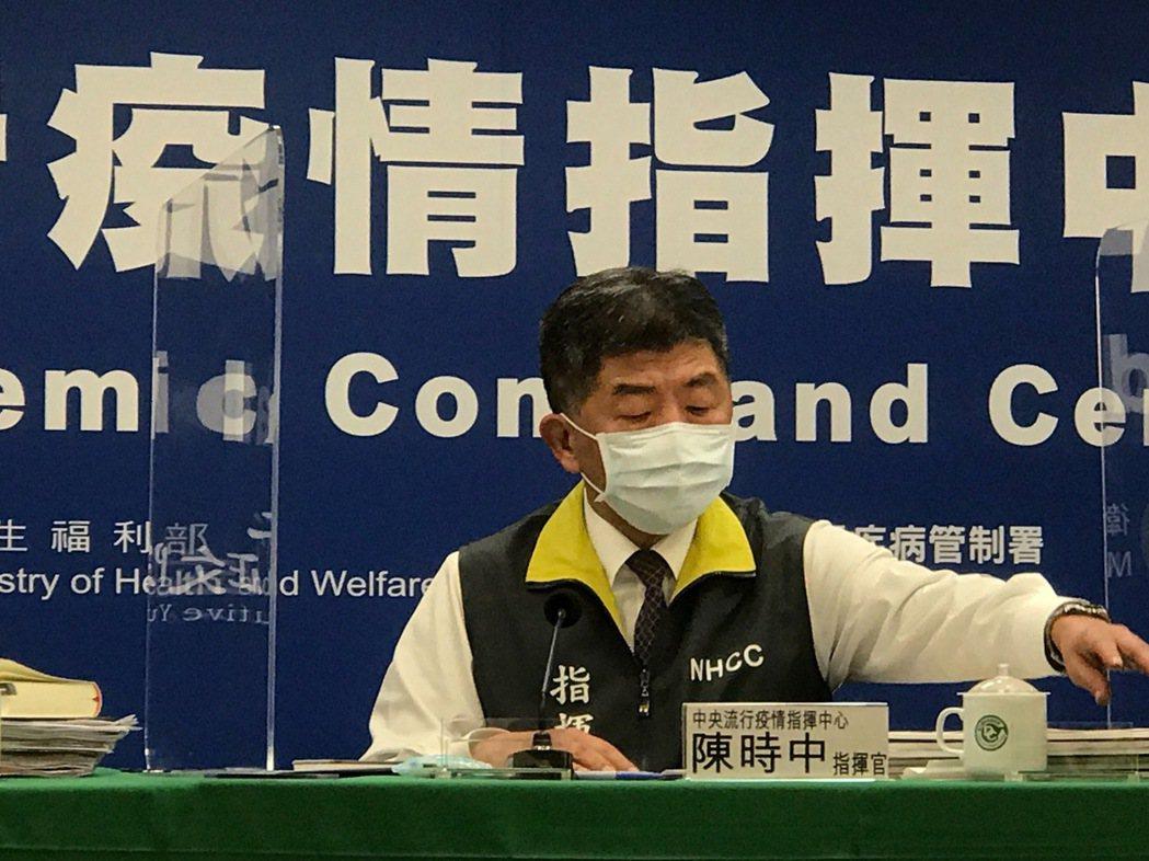 中央流行疫情指揮中心指揮官陳時中。記者黃惠群/攝影