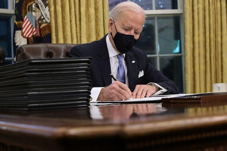美國總統拜登,攝於20日。法新