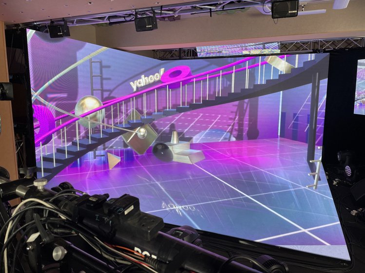 「Yahoo搜尋人氣大獎2020」頒獎典禮設計了三大虛實整合場景作為舞台,圖為頒...
