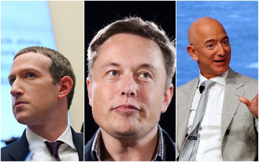 該報告特別列出許多知名CEO,包括亞馬遜的貝佐斯、特斯拉的馬斯克和臉書的祖克柏等...
