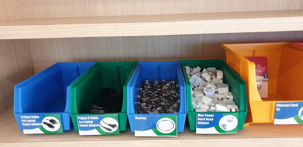 想要自己動手修或組出小東西嗎?台灣辦公室內比照美國總部,有小零件擺放區,員工可以...