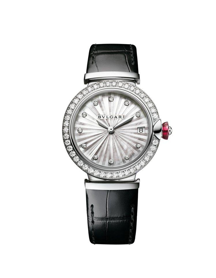 BVLGARI Lvcea IntarsioNTARSIO精鋼鑲鑽腕表,29萬2...