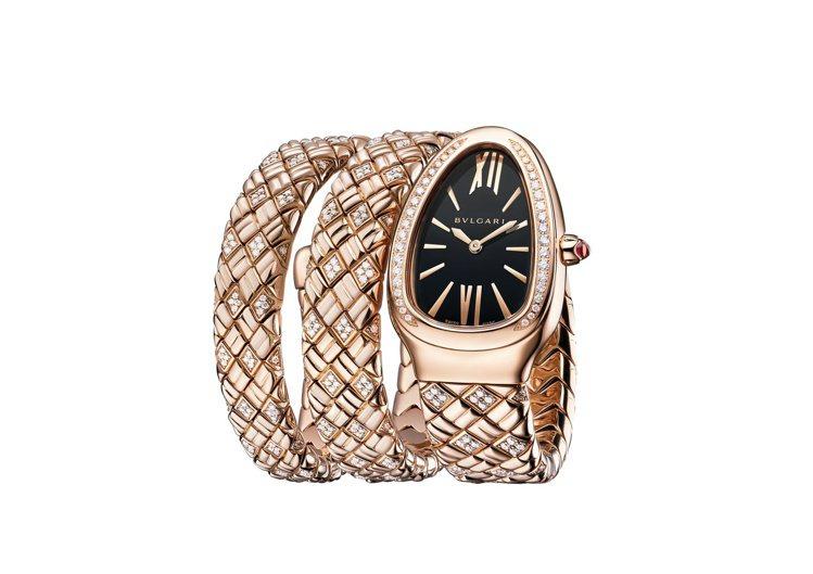 BVLGARI Serpenti Spiga玫瑰金半鑽腕表,207萬1,000元...