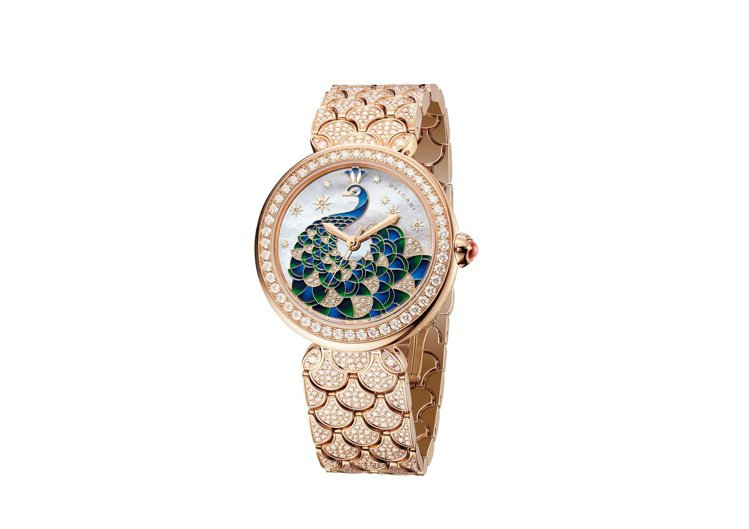 BVLGARI Divas' Dream Peacock Diamonds玫瑰金...