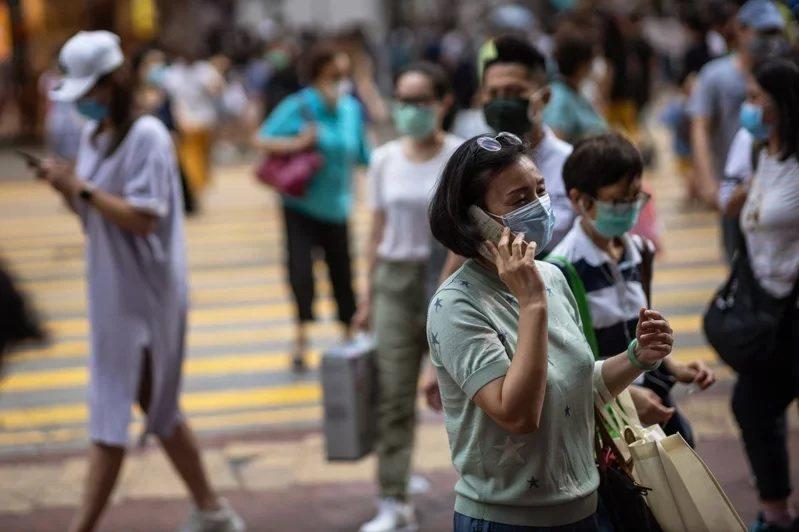 香港新冠肺炎疫情再起。 圖/歐新社