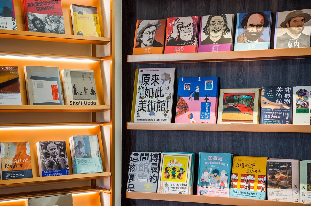 誠品書店嘉美館期間限定店隨美術館展覽主題規劃主題選書推薦。 圖/誠品書店提供