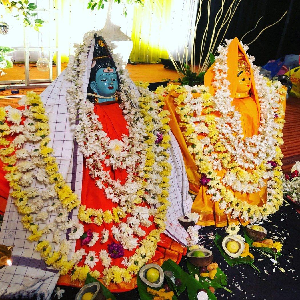 印度教傳統婚禮儀式用的神像。 圖/印度尤提供