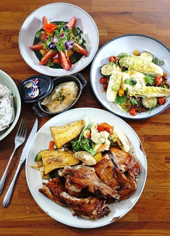 挑食從前菜、主餐到甜點,不斷地以在地食材演繹台魂法菜。  圖/曾信耀 攝影