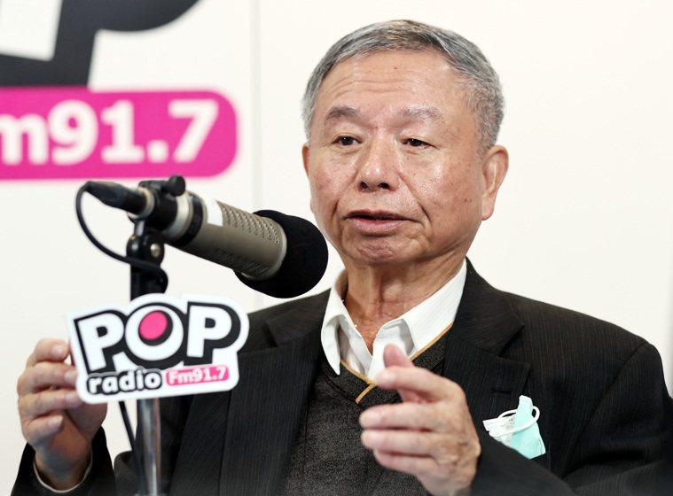 前衛生署署長楊志良今接受廣播節目「POP撞新聞」訪問。記者侯永全/攝影