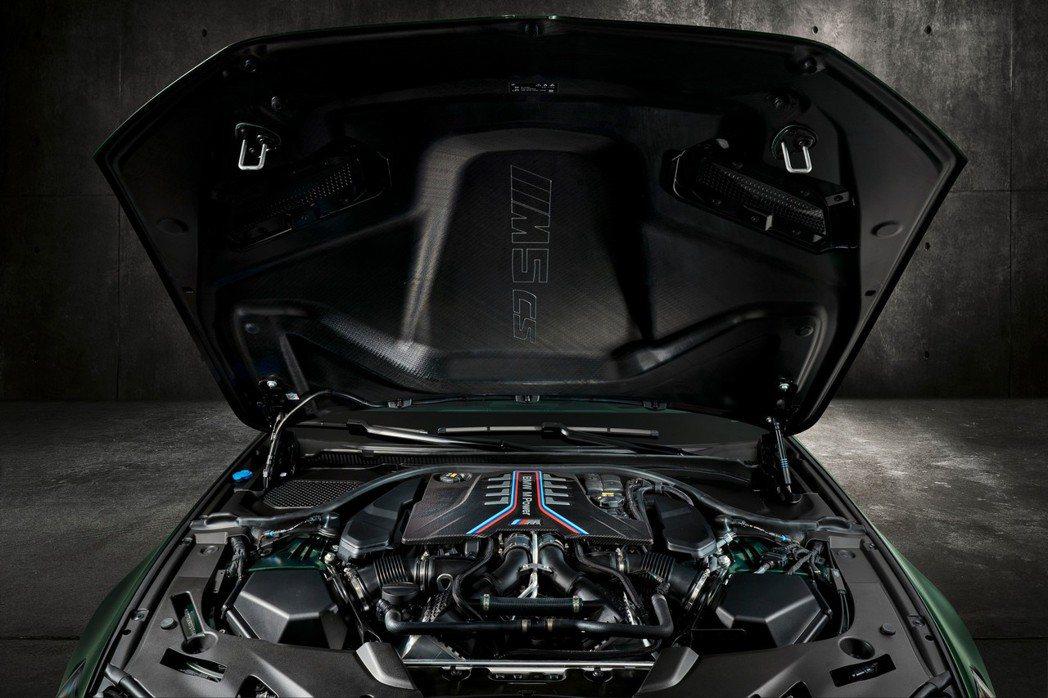 碳纖維引擎蓋上還有M5 CS字樣。 摘自BMW