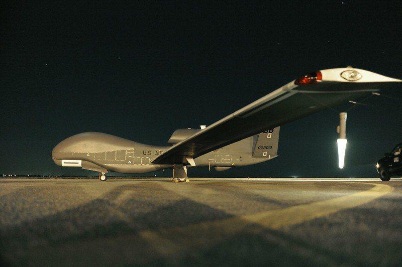 RQ-4全球鷹無人偵察機。 圖/美國空軍