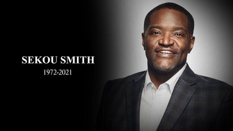 NBA大家庭又傳出不幸消息帶來沉重打擊,48歲的記者史密斯(Sekou Smith)染疫病逝。  截圖自NBA官方推特