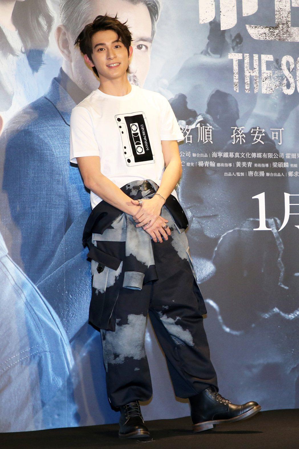 電影「緝魂」首映會,主演林暉閔出席。記者胡經周/攝影