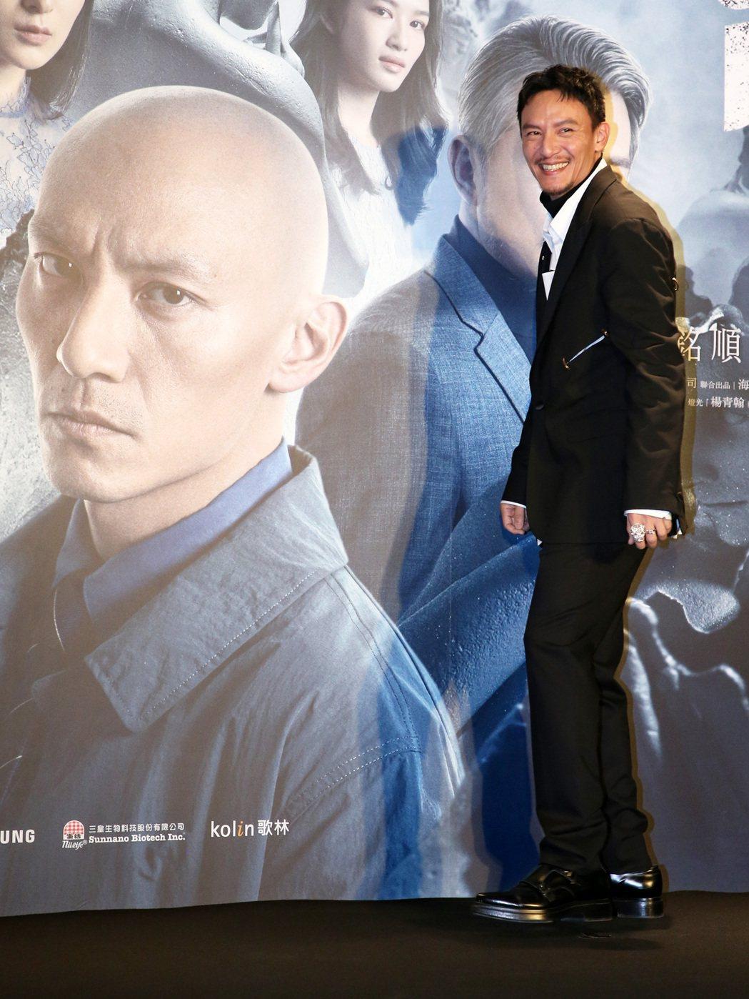 電影「緝魂」首映會,主演張震出席。記者胡經周/攝影