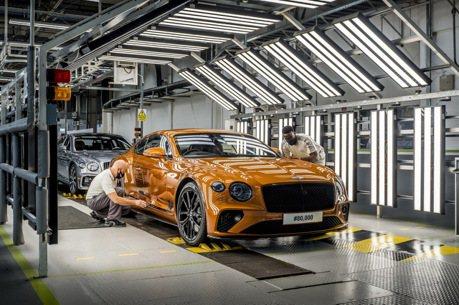 Bentley Continental GT跑車產量再創紀錄  突破8萬輛里程碑!