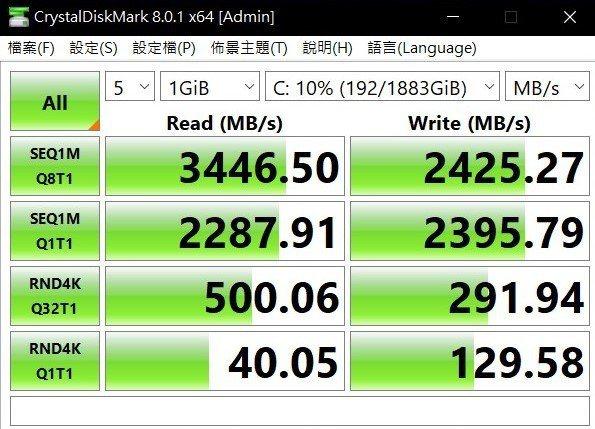 固態硬碟效能表現不差。 彭子豪/攝影