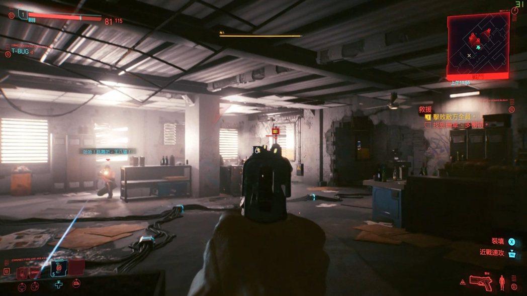 Cyberpunk 2077為30幀以上,同時光追表現光是肉眼即能體會。 彭...
