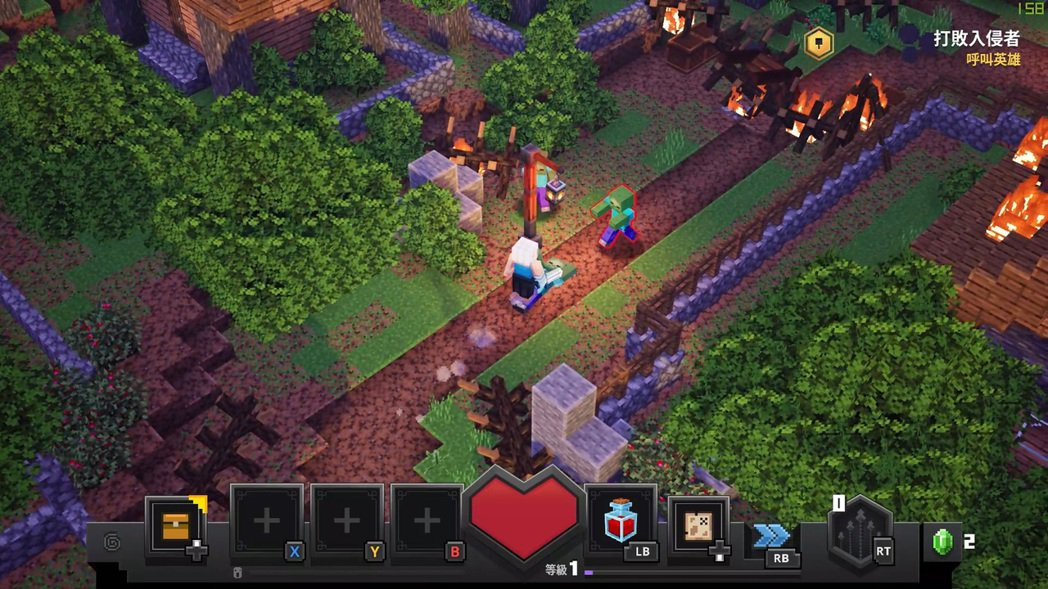 Minecraft Dungeons則最高突破200幀。 彭子豪/攝影
