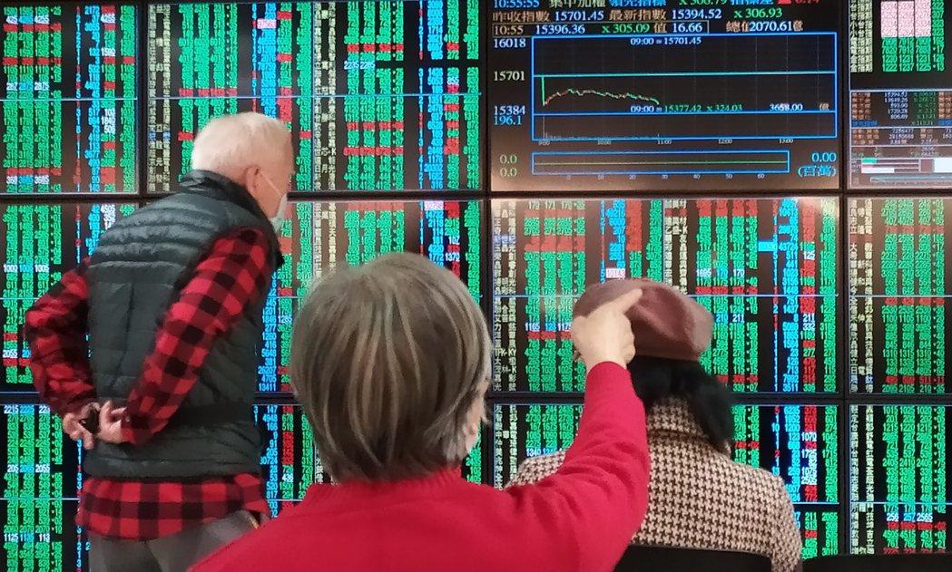 受美股拖累,今天台股大幅開黑,台積電並跌破600元關卡,投資人緊盯慘綠大盤。記者...
