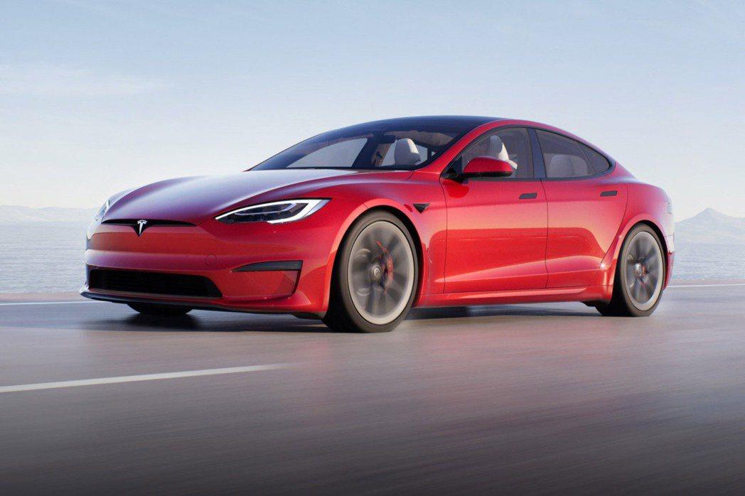 特斯拉Model S Plaid外觀(彭博資訊/特斯拉提供)