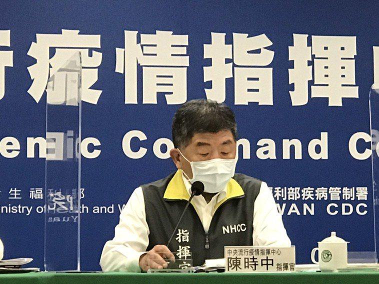 陳時中表示,今天國內無本土個案,部桃事件連續四天零確診。 記者黃惠群/攝影
